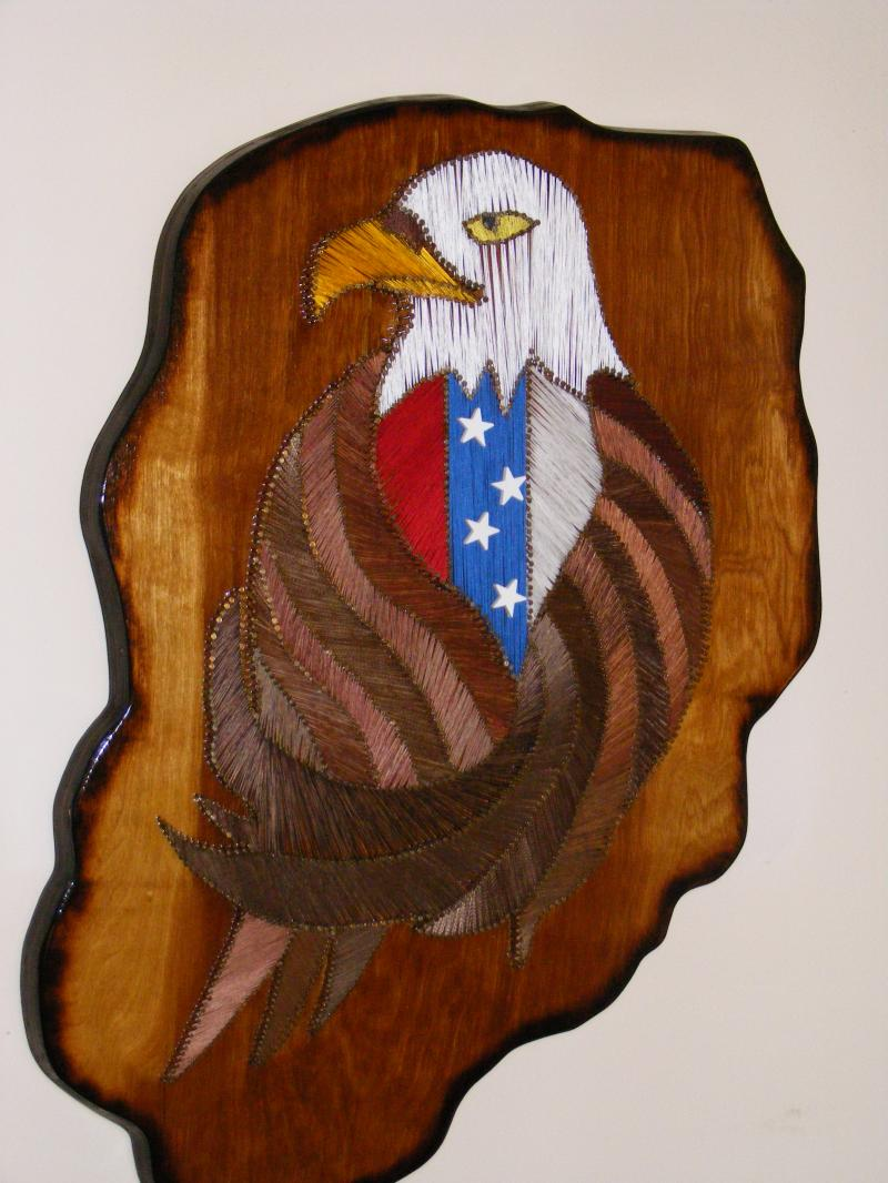 Designs In Wood And String My String Art Pieces Eagles Wolves